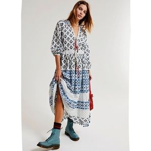 Anthropologie Boho Naomi Maxi Dress by Valiante S